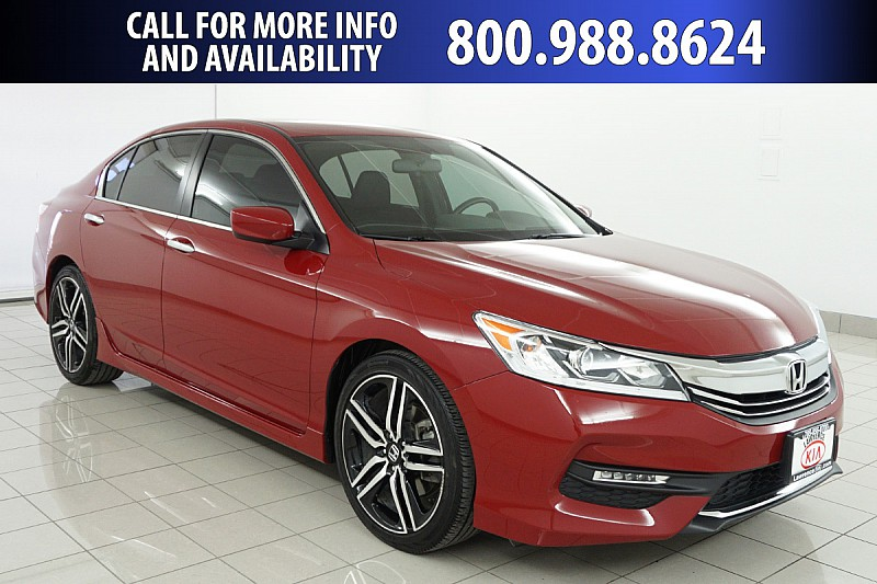 Pre Owned 2017 Honda Accord Sedan 4d Sport Cvt